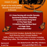 14th Annual Homegrown Harvest Festival – Sunday, Sept. 22, 2019, noon – 5 pm
