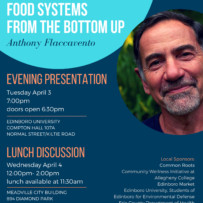 Author Anthony Flaccavento to speak about Food Systems and Local Economies